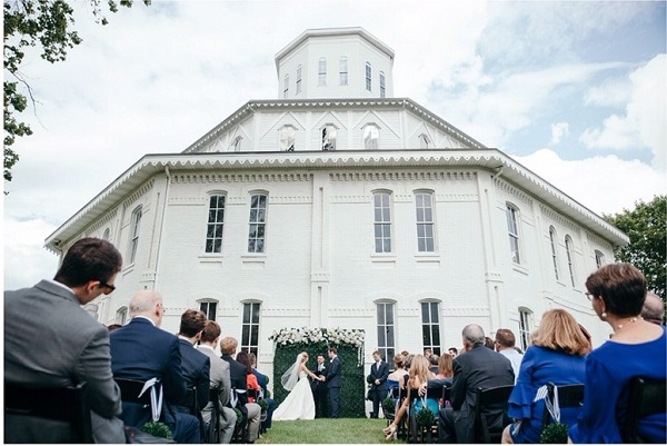 Round Barn Hendy Ceremony (Meagen C Photography)